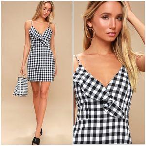 Lulu's • Gingham Main Street Mini Dress